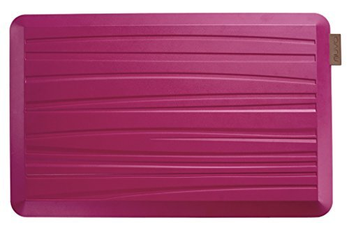 NUVA Kitchen Antislip Anti-fatigue Mats Antimicrobial >99.9%, Non-toxic Odor, Water Resistant, 30x20x0.75 inch., Various sizes & colors, Commercial Grade:10 years Warranty(Magenta, Beach Pattern) by Nuva