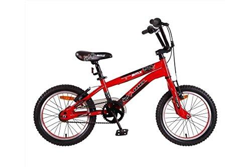 Vélo Garçon Umit BMX 20 Pouces Frein V-Brake et Rétropédalage 85% Assemblé Noir Rouge