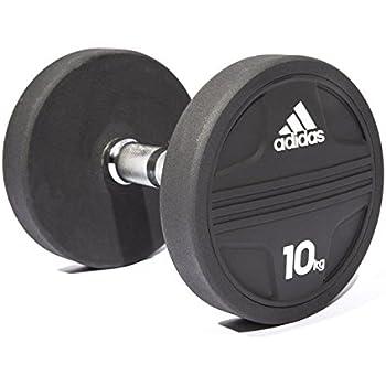 Adidas ADWT-11343 Mancuerna, Negro, 10 kg