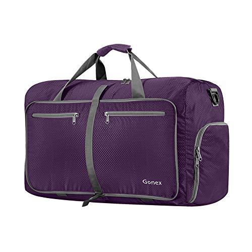 Gonex Leichter Faltbare Reise-Gepäck 40L & 60L & 80L & 100L Duffel Taschen Übernachtung Taschen/Sporttasche für Reisen Sport Gym Urlaub