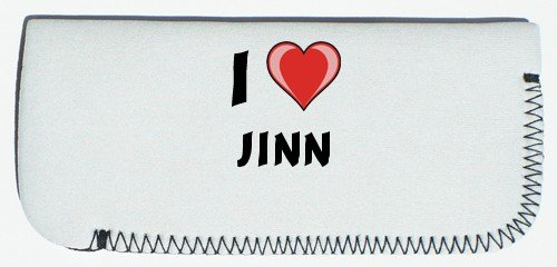 Glasses Case with I Love Jinn (first name/surname/nickname)