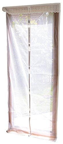 infactory Fliegenvorhang: Selbstschließendes Premium-Fliegennetz für Türen, weiß (Mückenvorhang mit Magnetverschluss)