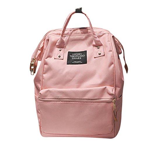 Schule Kurzarm Tee (TUDUZ Leichter Rucksack Outdoor Schule Doppel Umhängetasche Reißverschlusstasche Reiserucksack Tasche für Männer Frauen (Rosa))