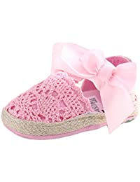 Estamico Infant Girls 'net-yarn encaje lazo sandalias