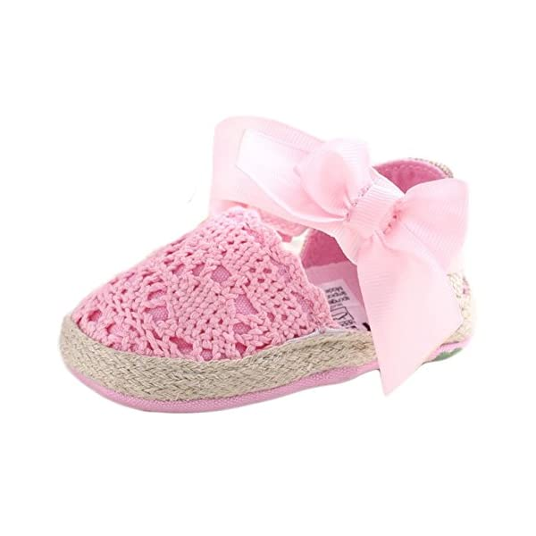 ESTAMICO Baby Girls' Net-Yarn Lace Bowknot Sandals Summer Infant Shoes