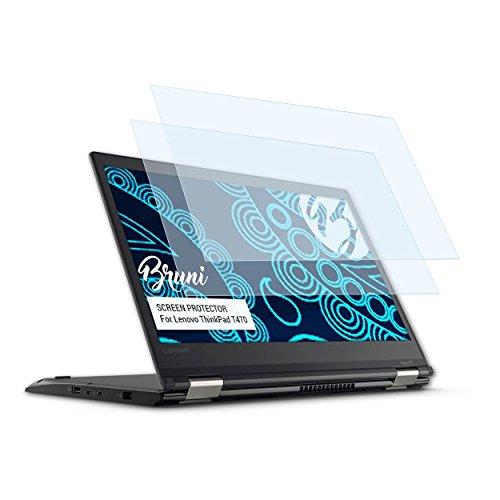 Bruni Schutzfolie für Lenovo ThinkPad T470 Folie, glasklare Bildschirmschutzfolie (2X)