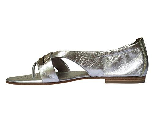 Kennel & Schmenger , Sandales pour femme Silver Crossover w/ Buckle & Studs