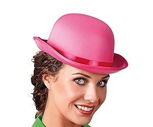 Boland 04153 - melón sombrero de satén adulto, un tamaño, color rosa