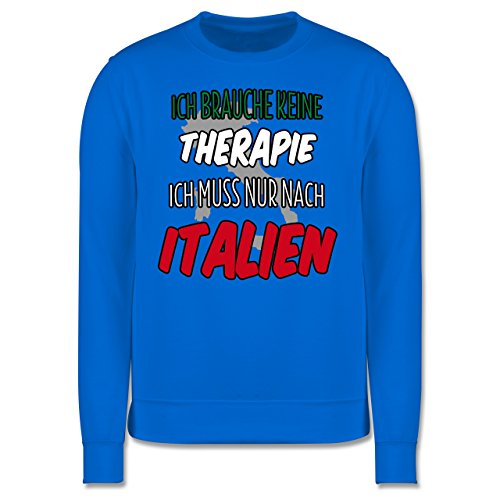 Länder - Ich brauche keine Therapie ich muss nur nach Italien - Herren Premium Pullover Himmelblau