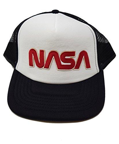 NASA Herren Cap Mütze Vintage-Stil, bestickt, Wurm (EMB) - schwarz