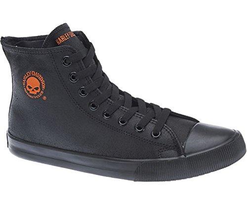harley-davidson-baxter-moto-uomo-scarpe-alte-sneaker-nere-arancio-vera-pelle