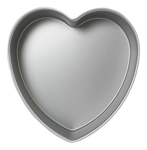 PME - Moule à Gâteau en Forme de Cœur en Aluminium Anodisé, 365mmx 75mm de Profondeur