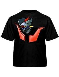 Camiseta Mazinger z (Talla: Talla L Unisex Ancho/Largo [56cm/74cm] Aprox], Color: Negro)