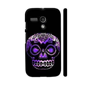 Colorpur Dia De Muertos Purple Designer Mobile Phone Case Back Cover For Motorola Moto G1 | Artist: Purple Prose