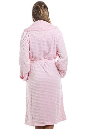Camille Bademantel aus extraweichem Fleece Rosa Pink -raihana.eu