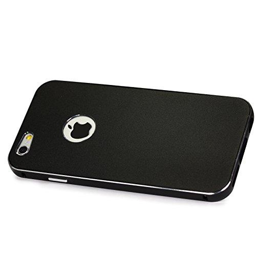 Original Urcover® Voll Aluminium Schutz Hülle Alu Full Metal Cover Tasche Case Etui Handyhülle für Apple iPhone 6 ( 4.7) Rot Schwarz