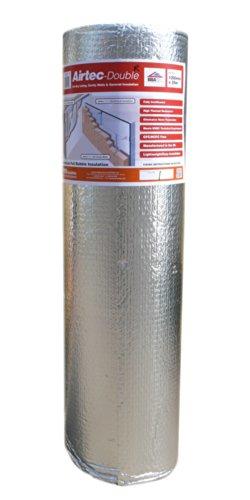 Airtec Film isolant double multicouche à bulles 1200mm x 25m x 3,7 mm