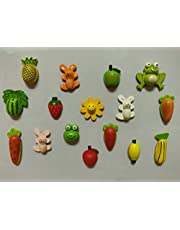 SuperBasics Mix Wooden Fridge Magnets - Random Set of 12