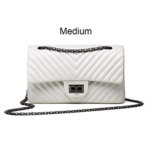 ANANXILA Kleine Schultertasche Lady V Streifen Crossbody Taschen Frauen Messenger Medium White - Gucci Medium Umhängetasche
