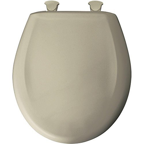 Bemis 200SLOWT 046Whisper Close Toilettensitz, rund geschlossen Front WC-Sitz, Pergament von Bemis