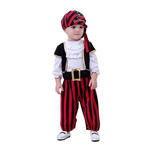 Nyan Cat May's Baby Boys Captain Infant Costumes Cap Stinker Pirate Costume 4pcs Set