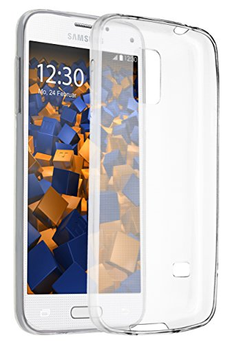 mumbi UltraSlim Hülle für Samsung Galaxy S5 mini Schutzhülle transparent (Ultra Slim - 0.55 mm) -