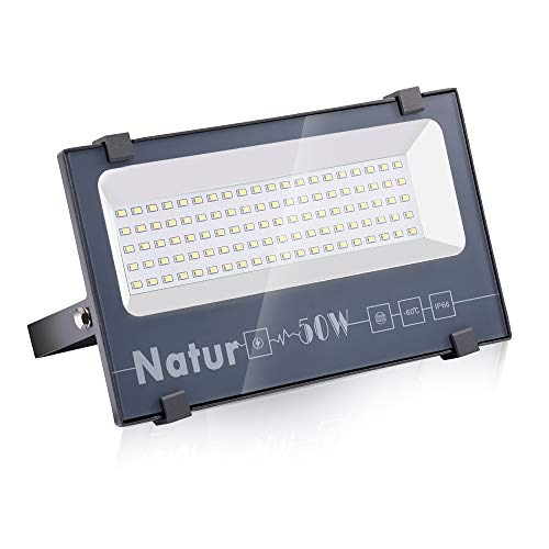 Natur 50W LED Foco Exterior alto brillo 5000LM,Impermeable IP66 Proyector Foco LED,...