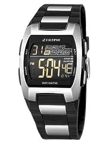 Calypso - K5533/1 - Montre Homme - Quartz - Digitale - Eclairage-Chronomètre-Temps intermédiaires-Alarme - Bracelet Caoutchouc Multicolore