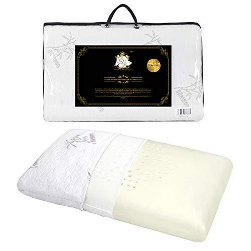 DUCK & GOOSE Orthopädisches Memory Foam Kopfkissen Nackenstützkissen viscoelastisches Kissen mit waschbarem Bambus Bezug 70X40X13cm -