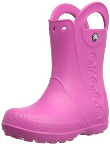 Crocs, Rain Boot K, Stivali, Unisex - bambino, Rosa (FUX), 27-28