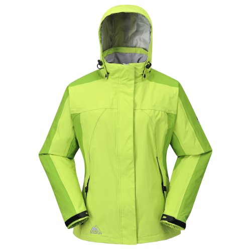 COX SWAIN Damen 2-Lagen Outdoor Multifunktionsjacke MAKALU div. Farben 3.000 mm Wassersäule, Colour: Light Green/Apple, Size: M (Apple Gestickt)