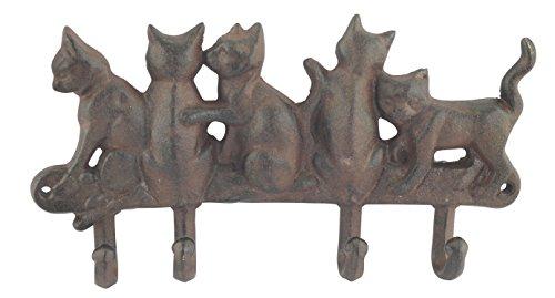 Porte-manteaux en fer forgé, Modèle 5 chats