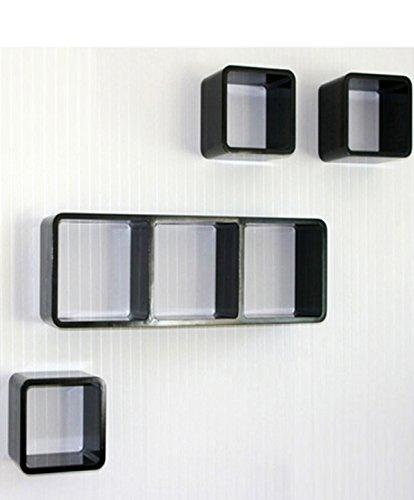 Étagères cube murale de 3 piéces Blanc -PEGANE-