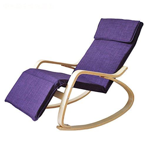 Hiver dans les personnes âgées Salon de détente Fauteuil à bascule (Couleur : Violet)