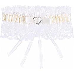 Liga de boda - cinta en tono crema