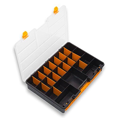 Art Plast 3600aus Kunststoff, Polypropylen, Polystyrol-Set Werkzeuge (schwarz, gelb Werkzeugkasten aus Kunststoff, Polypropylen (PP), Polystyrol, schwarz, gelb)