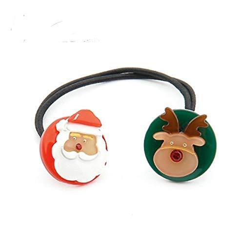 JING Europäische und amerikanische Kopfschmuck Santa Claus Elch Haar Ring süße Mädchen Stretch Kopf Seil -