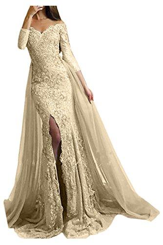 Victory Bridal Damen Fashion Etui Mermaid Abendkleider Lang Spitze Ballkleider Fest Hochzeitskleider...