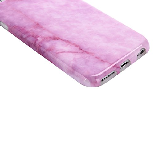 iPhone 5 / 5S / SE Cover ZXLZKQ Trasparente Di alta qualità Rosa Blue Naturale Marmo Stripe Silicone Morbido TPU Bumper Case Custodia per Apple iPhone 5 / 5S / SE (Non disponibile per iPhone 5C) Rose Marbre1