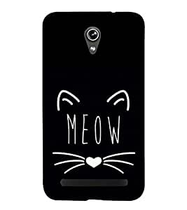Meow 3D Hard Polycarbonate Designer Back Case Cover for Asus Zenfone Go ZC500TG (5 Inches)
