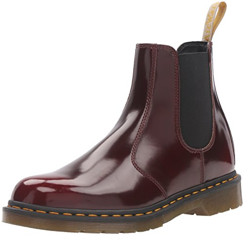 Dr. Martens 2976 Vegan, Botas Chelsea Unisex Adulto, Cherry Red, EU 36 (UK 3)