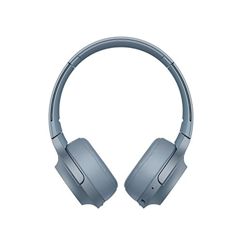 Sony whh800 cuffie over-hear stereo, bluetooth, hi-res audio, con microfono integrato, quick charge, colore blu