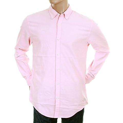 Scotch & Soda mens pastel pink 1201 00 20006 faded oxford shirt SCOT0396