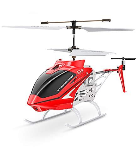 Syma S39 Ferngesteurter Helicopter RC Hubschrauber 3.5 Kanal 2.4 Ghz LED Leucht und Gyro-Technik Geschenk für Kinder Rot