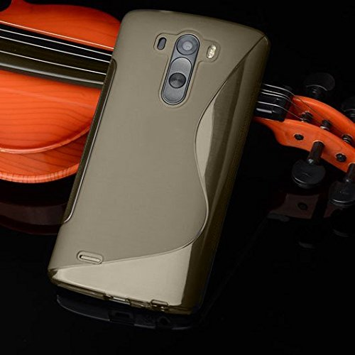 Tarkan Designer Soft Slim Protective Best Rubber Bumper Back Case Cover for LG Magna / LG G4C [Grey] – CLEARANCE SALE@99