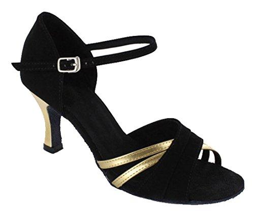 TDA - Ballroom donna 7.5cm Black Gold