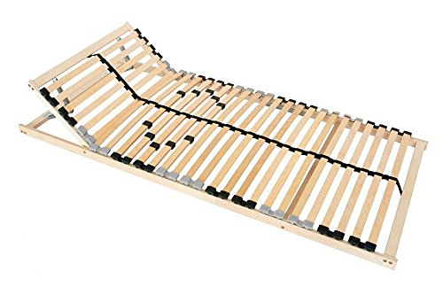 Lattenrost 90x200 100x200 verstellbar Kopfteil Härtegrad Lattenrahmen 28 Leisten Mittelband