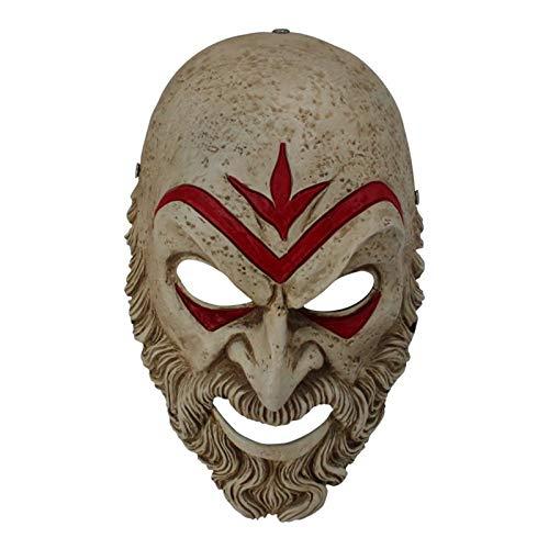 Kostüm Assassin's Creed Macht Ein - YUANZHOU Assassin's Creed Odyssey Bösewicht Maske - Harz Maske Charakter Prominente Maske Halloween Kostüm Party Karneval Weihnachten Ostern Party Maske