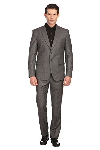 Grey-Single-Breasted-Terylene-Rayon-Mens-Formal-Suit