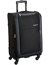PRONTO Paris Polyester 78 cms Black Suitcase (6455 - BK)